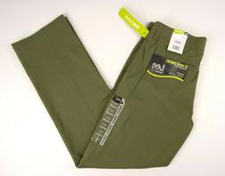 Lee X-treme Comfort Mens 32X32 Flat Front Straight Fit Moss