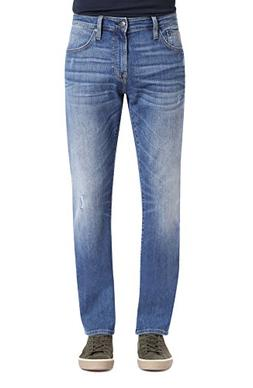 Mavi Men's Zach Regular-Rise Straight-Leg Jeans, Lt Destruct